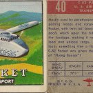 "TOPPS 1952 ""WINGS""  #40 C-82 PACKET Trading Card"