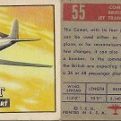 "TOPPS 1952 ""WINGS""  #55 COMET Trading Card"