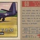 """TOPPS 1952 """"WINGS""""  #60 FH-1 PHANTOM Trading Card"""
