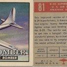 "TOPPS 1952 ""WINGS""  #81 B-50 SUPERBOMBER Trading Card"