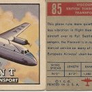 "TOPPS 1952 ""WINGS""  #85 VISCOUNT Trading Card"