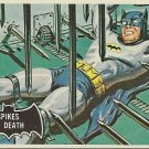 "TOPPS 1966 BATMAN #17 ""SPIKES OF DEATH"" Trading Card"