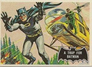"""TOPPS 1966 BATMAN #37 """"A TRAP FOR BATMAN"""" Trading Card"""