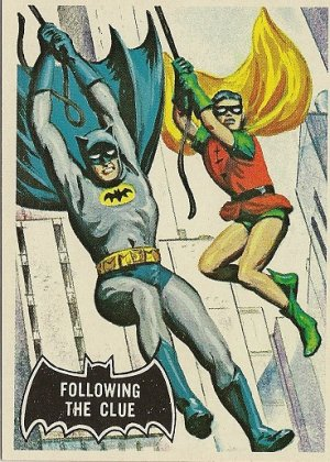 "TOPPS 1966 BATMAN #40 ""FOLLOWING THE CLUE"" Trading Card"