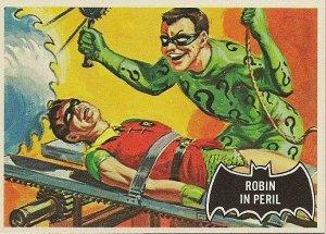 """TOPPS 1966 BATMAN #42 """"ROBIN IN PERIL"""" Trading Card"""