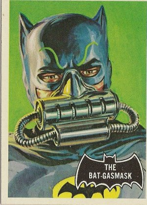 "TOPPS 1966 BATMAN #43 ""THE BAT-GASMASK"" Trading Card"