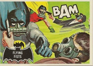 """TOPPS 1966 BATMAN #44 """"FLYING FISTS"""" Trading Card"""