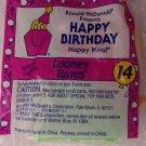 McDonalds Happy Meal Happy Birthday Looney Tunes toy*