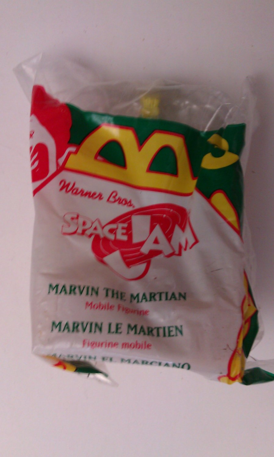 1996 Space Jam McDonalds Happy Meal Toy New In Package Marvin the Martian #3