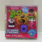 DC Super Friends Trio Robin and The Joker Fisher Price*