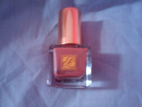 Estee Lauder Nail Polish in rose blush.