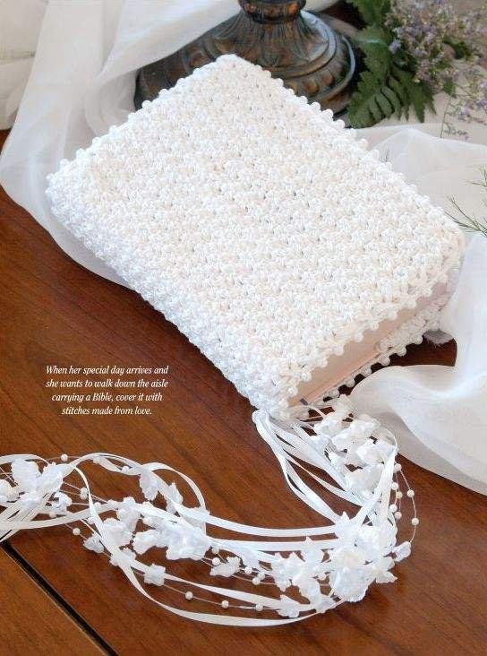 W035 Crochet PATTERN ONLY Bride's Bible Cover Pattern Wedding