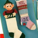 Y259 Crochet PATTERN ONLY Elf and Patchwork Christmas Stocking Patterns