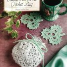 Y187 Crochet PATTERN ONLY Irish Crochet Bag Purse & Shamrock Coasters Patterns
