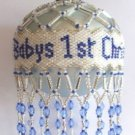 X495 Bead PATTERN ONLY Beaded Baby's First Christmas Ornament Cover Pattern