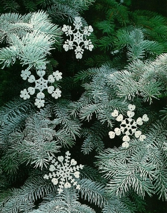 X958 Crochet PATTERN ONLY 4 Snowflake Flurry Christmas Ornaments