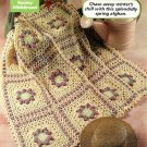 W104 Crochet PATTERN ONLY Ring Around the Rosy Lacy Granny Afghan Pattern