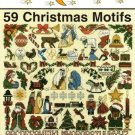 X538 Cross Stitch PATTERN Book ONLY Jeanette Crews Designs 59 Christmas Motifs 1