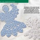 W460 Crochet PATTERN ONLY Angel Ornaments Pattern Size 10 or Size 20 Thread