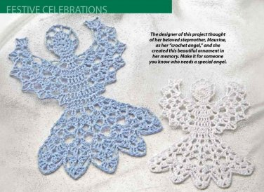 W460 Crochet PATTERN ONLY Angel Ornaments Pattern Size 10 or Size 20 Thread