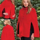 W457 Crochet PATTERN ONLY Ladies Out on the Town Cape Pattern to 2XL