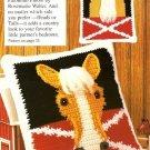 W455 Crochet PATTERN ONLY Palomino Horse Pillow Pattern