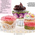 W454 Crochet PATTERN ONLY 3 Tea Party Cupcake Baskets Patterns Frilly Lacy
