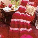 W450 Crochet PATTERN ONLY Textured Stripes Afghan Pattern