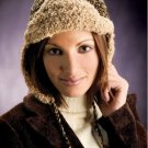 W448 Crochet PATTERN ONLY Aviator Style Cap with Ear Flaps Hat Pattern