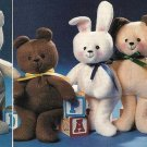 W441 Sewing PATTERN ONLY 4 Beanie Babies Type Bean-Bag Toy Doll Patterns