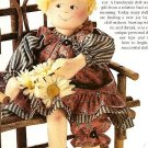 W436 Sewing PATTERN ONLY Soft Body Lilly Anne Rose Doll and Clothes Pattern 14""