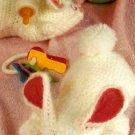 Y758 Crochet PATTERN ONLY Fluffy Bunny Stuffed Toy or Baby Bottle Prop Pattern