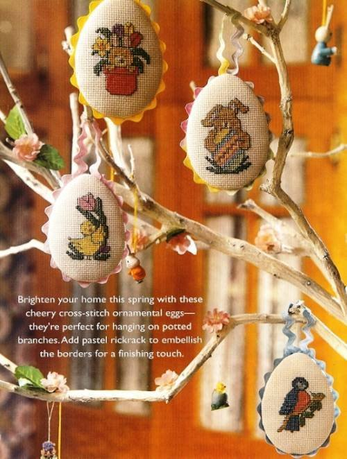 X715 Cross Stitch PATTERN ONLY Easter Egg Springtime Ornaments Charts