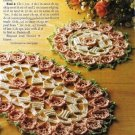 Y429 Crochet PATTERN ONLY Climbing Roses Doily Set Oval & Round