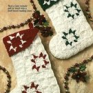 Y444 Crochet PATTERN ONLY Star Christmas Stockings Ornament Pattern