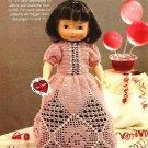 Y614 Crochet PATTERN ONLY My Pink Valentine Doll Dress Pattern
