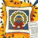 "Y675 Cross Stitch PATTERN ONLY Mini ""Joy"" Pillow Christmas Ornament Chart"