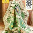 Y794 Crochet PATTERN ONLY Flower Garden Baby Blanket Pattern Join as you Go