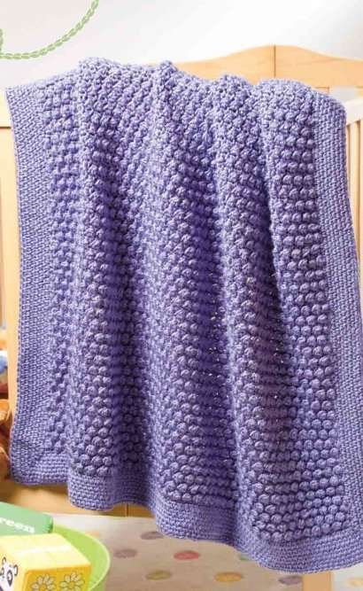 Y817 Crochet PATTERN ONLY Itsy Berry Baby Blankie Blanket Pattern