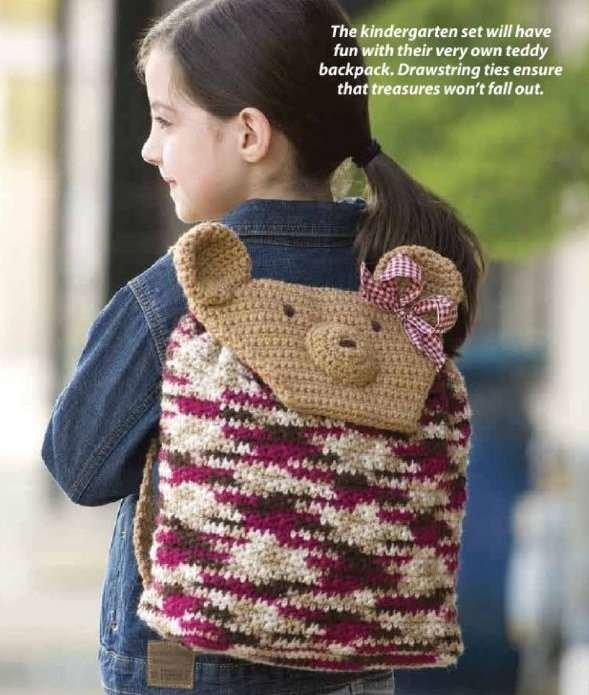 Y827 Crochet PATTERN ONLY Teddy Bear Backpack Pattern