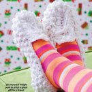 Y911 Crochet PATTERN ONLY Snowball Ladies Woman's Slippers Pattern