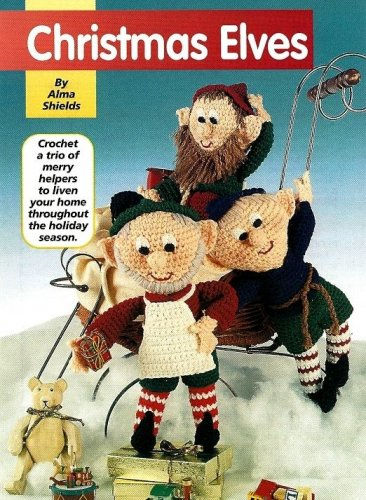 Y982 Crochet PATTERN ONLY 3 Christmas Elves Elf Doll Patterns