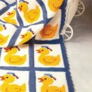 X035 Crochet PATTERN ONLY Just Ducky Afghan Pattern