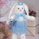W196 Crochet PATTERN ONLY Bridesmaid Bunny Toy Doll Bride Easter Pattern