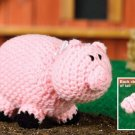 W190 Crochet PATTERN ONLY Piggy Wiggy Piglet Toy Doll Pattern