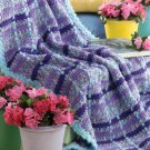 W170 Crochet PATTERN ONLY Monet Inspired Plaid Afghan Pattern