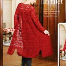 W157 Filet Crochet PATTERN ONLY Roses in Filet Spectacular Duster Pattern