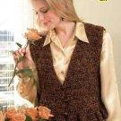 W009 Crochet PATTERN ONLY Ladies Cosmopolitan Vest Pattern