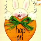 W022 Craft PATTERN ONLY Hop On In Bunny and Carrot Easter Ornament Pattern