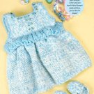 W002 Crochet PATTERN ONLY Baby Girl Blue Jumper & Slippers Pattern for Easter